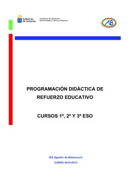 Programación de refuerzo - IES Agustín de Betancourt