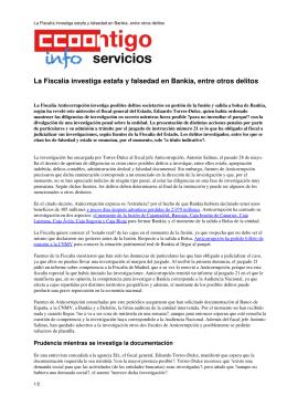 La Fiscalía investiga estafa y falsedad en Bankia, entre otros delitos