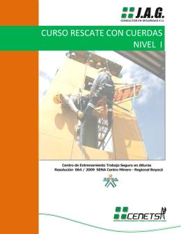 CURSO RESCATE CON CUERDAS NIVEL I
