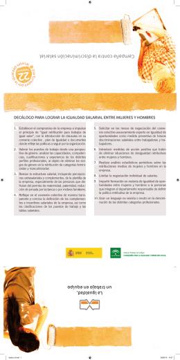Campaña contra la discriminación salarial