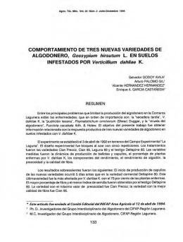 COMPORTAMIENTO DE TRES NUEVAS VARIEDADES DE