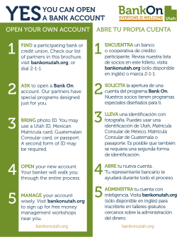 YOU CAN OPEN A BANK ACCOUNT