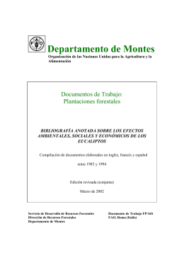 Departamento de Montes - Food and Agriculture Organization of the