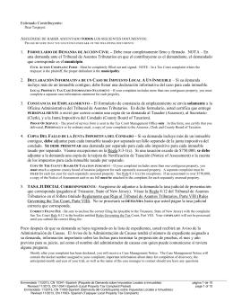 Paquete de Demanda sobre Impuestos Locales a Inmuebles/Local