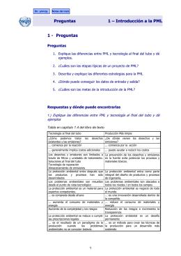Preguntas 1 – Introducción a la PML 1 - Preguntas
