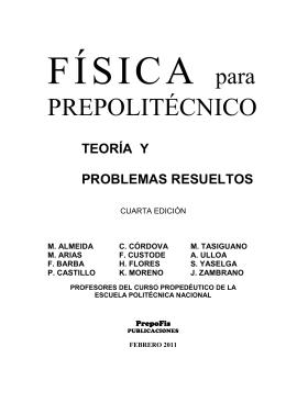 Física para Prepoliténico - Teoría y problemas Resueltos