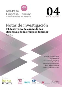 Notas de investigación Nº4 - Asociación Valenciana de Empresarios