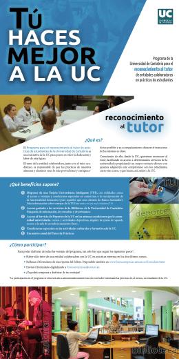 reconocimiento al tutor - Universidad de Cantabria