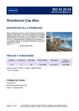 Residencial Cap Blau DESCRIPCIÓN DE LA PROMOCIÓN
