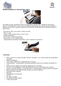 WACOM INTUOS4 XL CAD USB PTK-1240-C