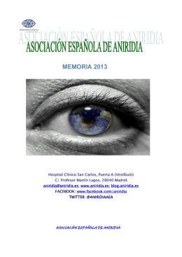 memoria anual año 2013 - Asociación Española de Aniridia
