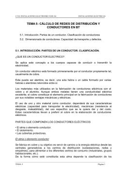 TEMA 5: CÁLCULO DE REDES DE DISTRIBUCIÓN Y