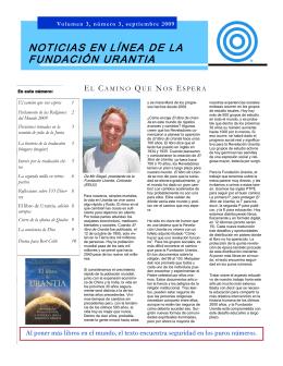 Foundation 2009 September Newsletter SPANISH.pub