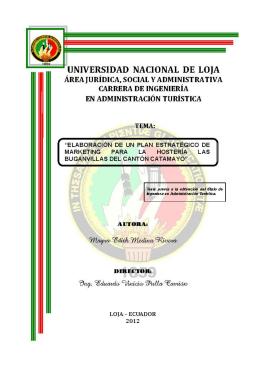 TESIS MAYRA - Repositorio Universidad Nacional de Loja
