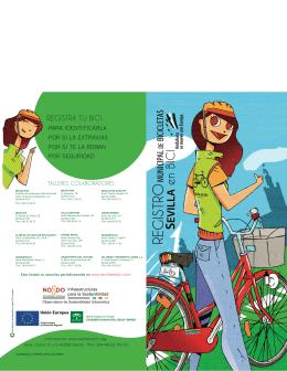 Diptico Registro Municipal de Bicicletas - Sevilla en Bici