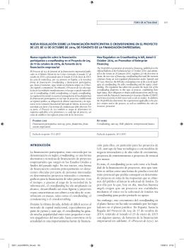 Nueva regulación sobre la financiación participativa o crowdfunding