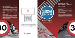 Normas básicas para circular. Peatones, ciclistas y automovilistas