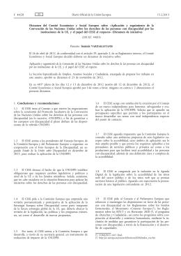 Dictamen del Comité Económico y Social Europeo sobre Aplicación