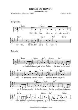 DESDE LO HONDO - Cancionero Litúrgico