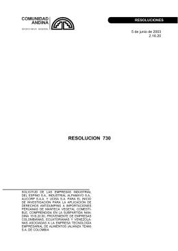 SOLICITUD DE LAS EMPRESAS INDUSTRIAL DEL ESPINO S.A.