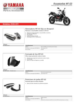 Accesorios MT-03 - Yamaha Motor Europe