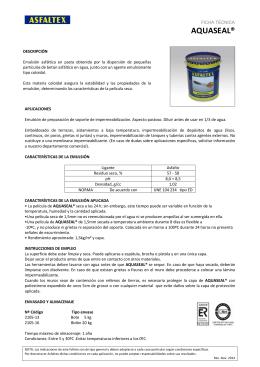 AQUASEAL - Ficha Técnica
