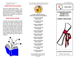 standards-based promotion parent brochure