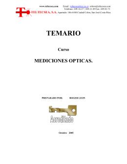 Mediciones Opticas