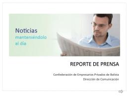 REPORTE DE PRENSA