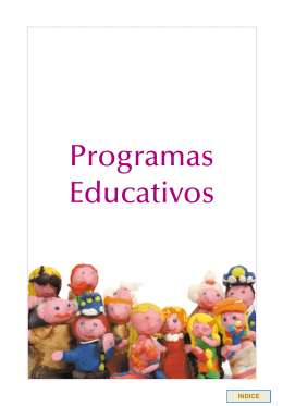 Folleto/Programas Educativos