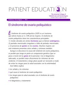 El síndrome de ovario poliquístico