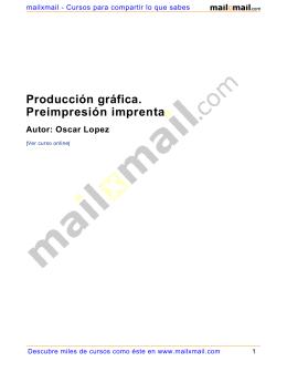 Producción gráfica. Preimpresión imprenta