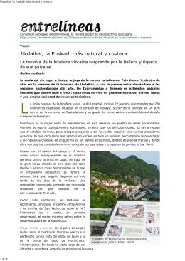 Urdaibai, la Euskadi más natural y costera