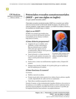 Potenciales evocados somatosensoriales (SSEP – por sus siglas en