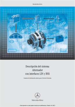 Descripción del sistema Alternador con interfaces LIN y BSS