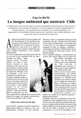 Expo Sevilla`92: La imagen ambiental que mostrará Chile
