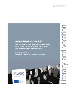 WORKSHOP-CONCEPT - ADAM - Leonardo da Vinci Projects and