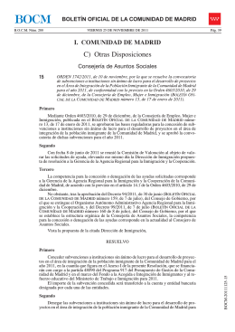 C) Otras Disposiciones - Boletín Oficial de la Comunidad de Madrid