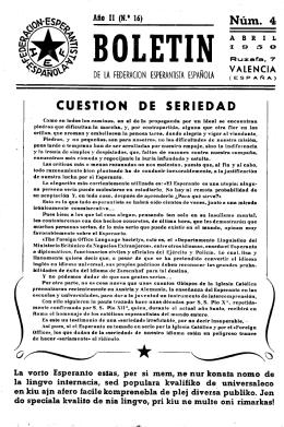 CUESTION DE SERIEDAD - Federación Española de Esperanto