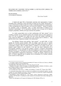 NOTAS SOBRE LA REVOLUCIÓN LIBERAL EN TIERRAS DE