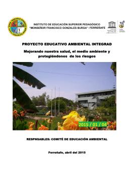 PROYECTO EDUCATIVO AMBIENTAL INTEGRAD Mejorando