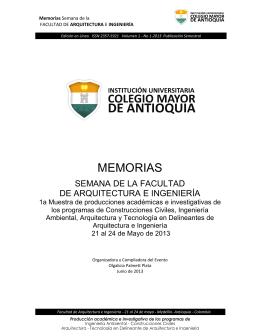 MEMORIAS - Colegio Mayor de Antioquia