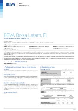 BBVA Bolsa Latam, FI - BBVA Asset Management