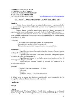 UNIVERSIDAD NACIONAL DE LA - Facultad de Ciencias Naturales