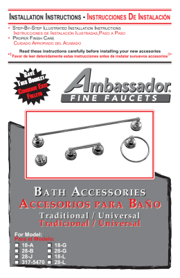 BATH ACCESSORIES ACCESORIOS PARA BAÑO