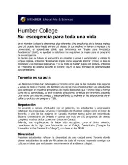 Humber College - Colegio Mayor José Celestino Mutis