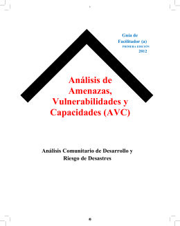 Módulo AVC facilitador final - Comisión Nacional de Emergencias