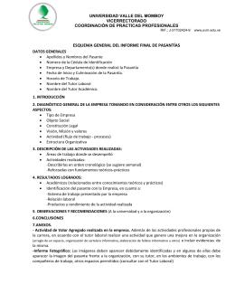 esquema general del informe final de pasantías