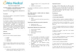 Antigenos febriles - Atlas