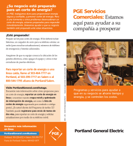 PGE Servicios Comerciales - Portland General Electric